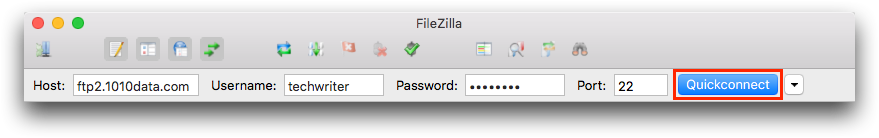 Transfer a file to your FTP account